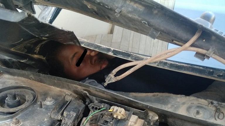 Migrant trouvé au Maroc. Pic: Garde civile