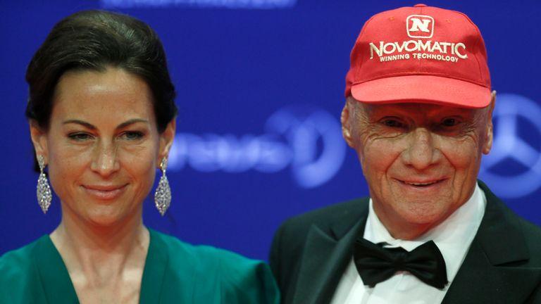 Lauda avec sa femme Birgit Wetzinger
