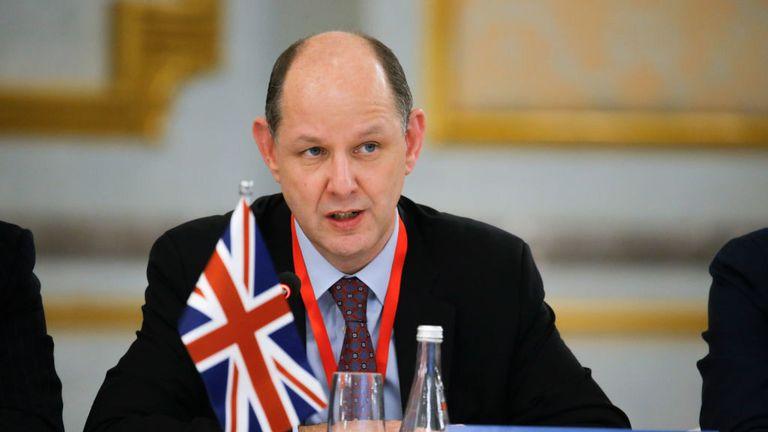Le diplomate britannique Philip Barton s'est rendu à Moscou plus tôt ce mois-ci