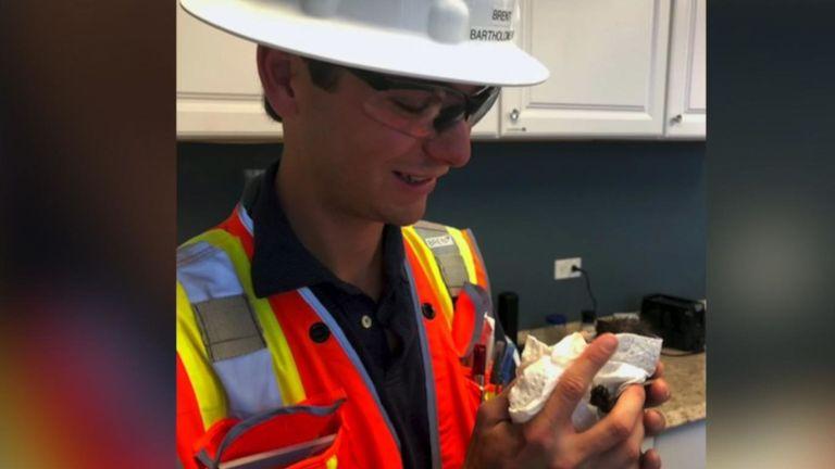 Un des travailleurs avec un chaton. Pic: San Diego Humane Society