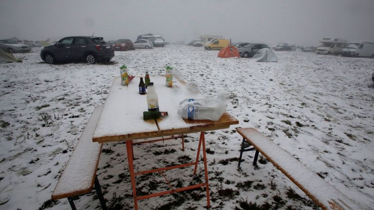 La neige est tombée pendant le festival