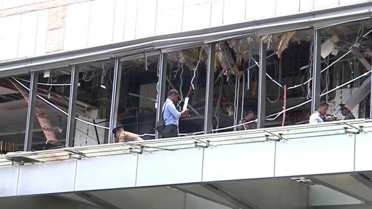 Dommages en cours d'évaluation à l'hôtel Shangri-La de Colombo