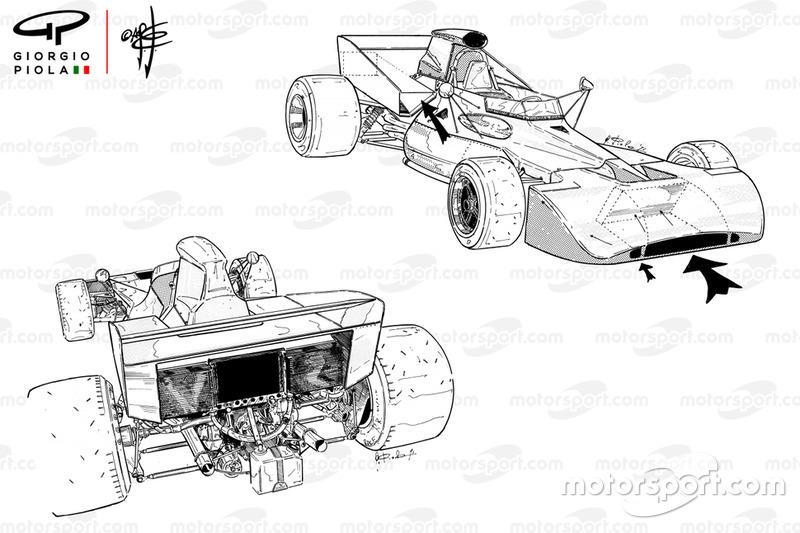 Tyrrell 003 détail entrée dair