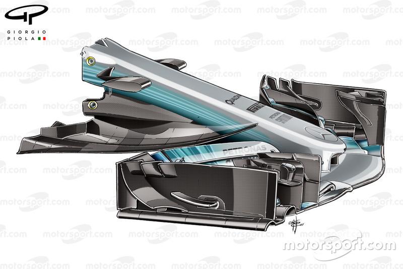 Mercedes W08 à nez étroit, GP dEspagne