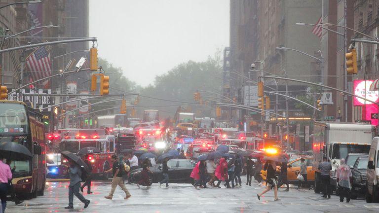 Un hélicoptère s'est écrasé dans un bâtiment à Manhattan