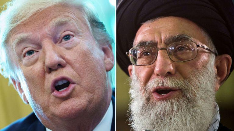 Donald Trump a déclaré que les sanctions viseraient l'ayatollah Ali Khamenei