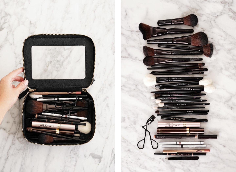 Etui Jetset et pinceaux de maquillage Clarity Truffle | Le look book beauté