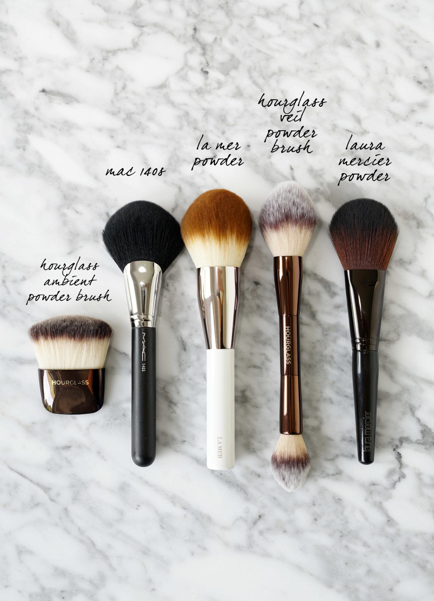 Les meilleurs pinceaux de maquillage en poudre de Hourglass, MAC, La Mer et Laura Mercier