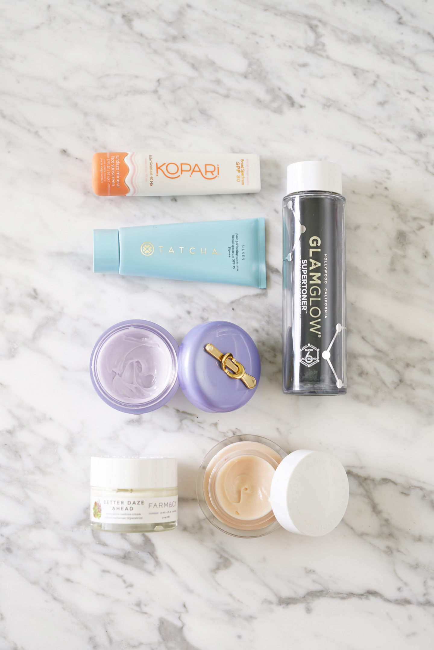 Mai Skincare Hits et Misses, Tatcha, Kopari, Glamglow, Farmacy
