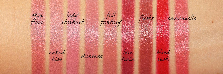 Échantillons de rouge à lèvres Pat McGrath BlitzTrance   Le look book beauté