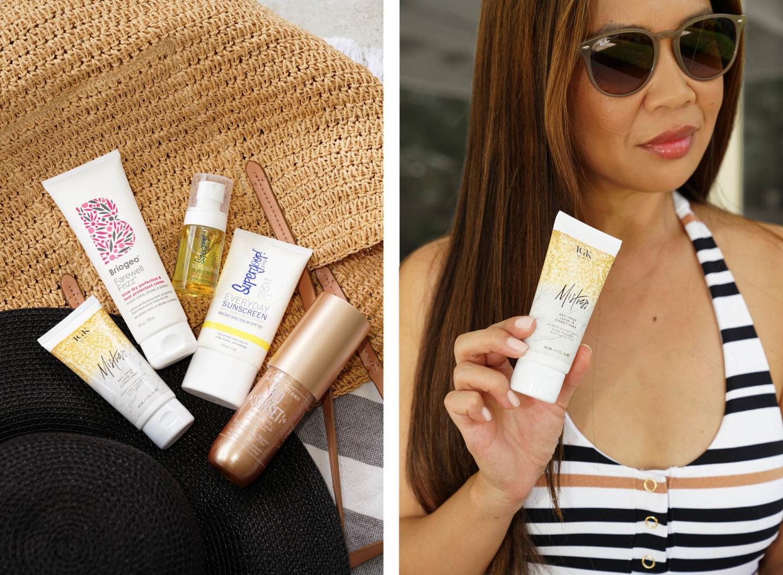 Summer Hair and Sunscreen aime supergoop! Igk Mistress et Briogeo