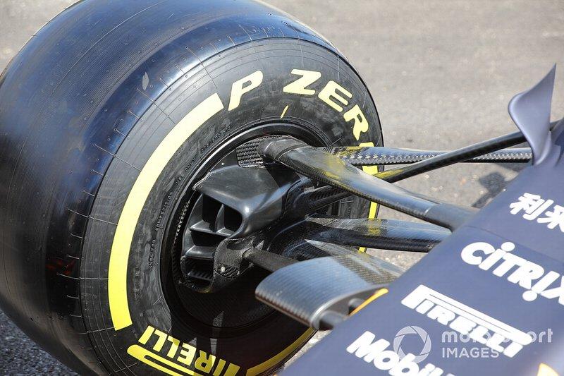 Détail de la roue avant du Red Bull Racing RB15