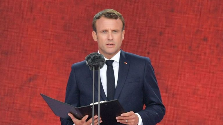 Emmanuel Macron a lu une lettre écrite par un jeune combattant de la résistance
