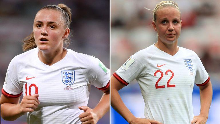 Talents en hausse & # 39; Georgia Stanway (à gauche) et Beth Mead (à droite)
