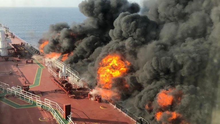 Le feu à bord d'un des navires
