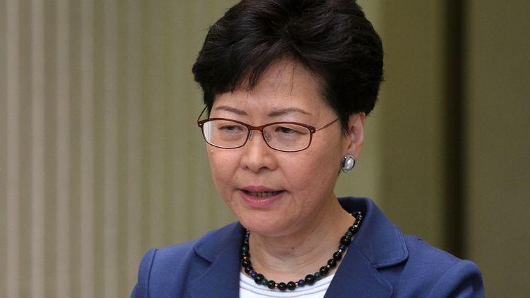 Carrie Lam, directrice générale de Hong Kong
