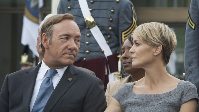 Kevin Spacey, Robin Wright et Michael Kelly