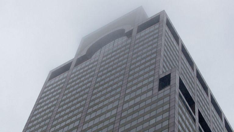 Le bâtiment à Manhattan où un hélicoptère s'est écrasé