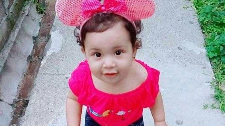 Valeria est morte à l'âge de 23 mois. Pic: Document familial