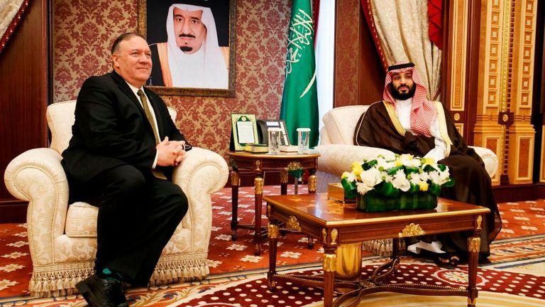 Le secrétaire d'État américain Mike Pompeo a rencontré le prince héritier Mohammed bin Salman