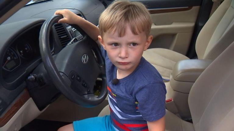Les clés de la voiture seront désormais verrouillées pour que Sebastian puisse les atteindre. PIC: Fox News