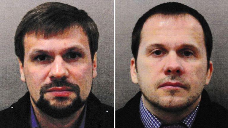 M. Boshirov (à gauche) et M. Petrov ont été nommés suspects par le Royaume-Uni
