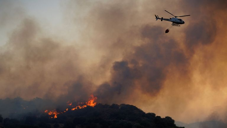 Deux incendies de forêt seraient encore en cours dans la région de Toledo, dans le centre de l'Espagne
