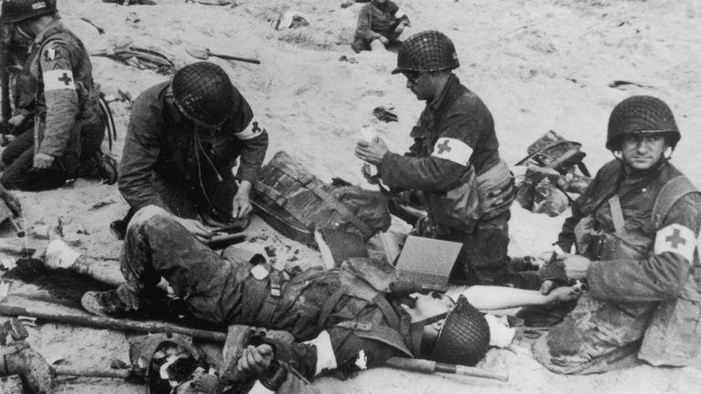 Médecins de l'armée américaine ont tendance à blesser des soldats à Utah Beach