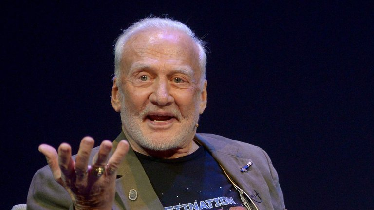 Buzz Aldrin au Science Museum de Londres