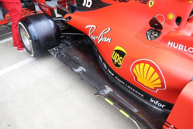 Détail du sol Ferrari SF90