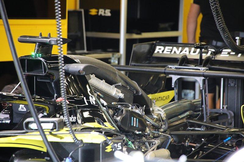 Détail arrière Renault F1 Team R.S.19