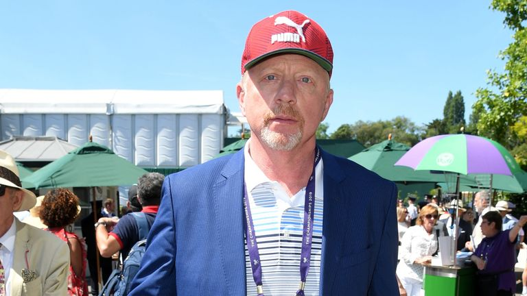 Boris Becker à Wimbledon cette année