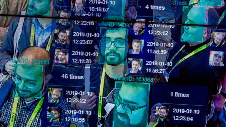 La technologie de reconnaissance faciale est testée lors d'un récent événement aux États-Unis. Image de fichier