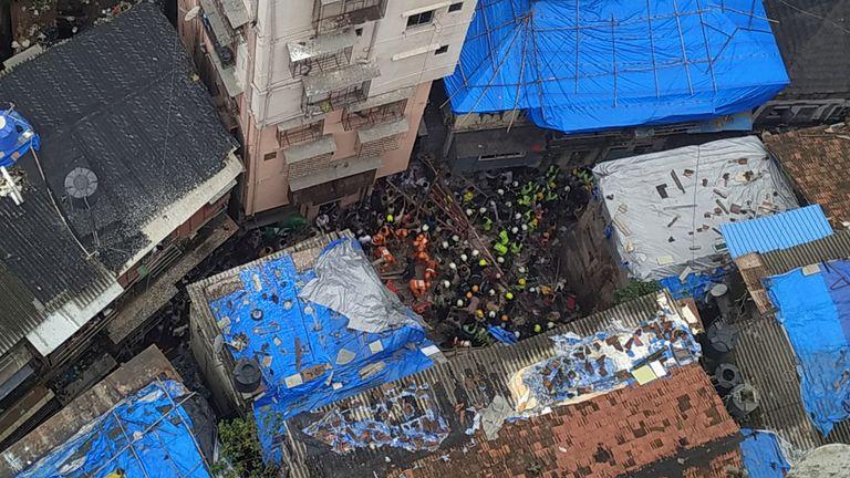 Effondrement du bâtiment de Mumbai