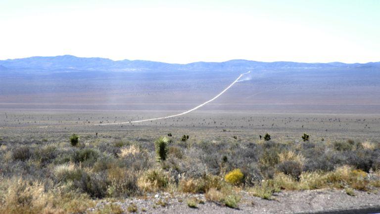 Photo d'archive du secteur 51 (Groom Lake, Dreamland) près de Rachel, dans le Nevada, en 2004