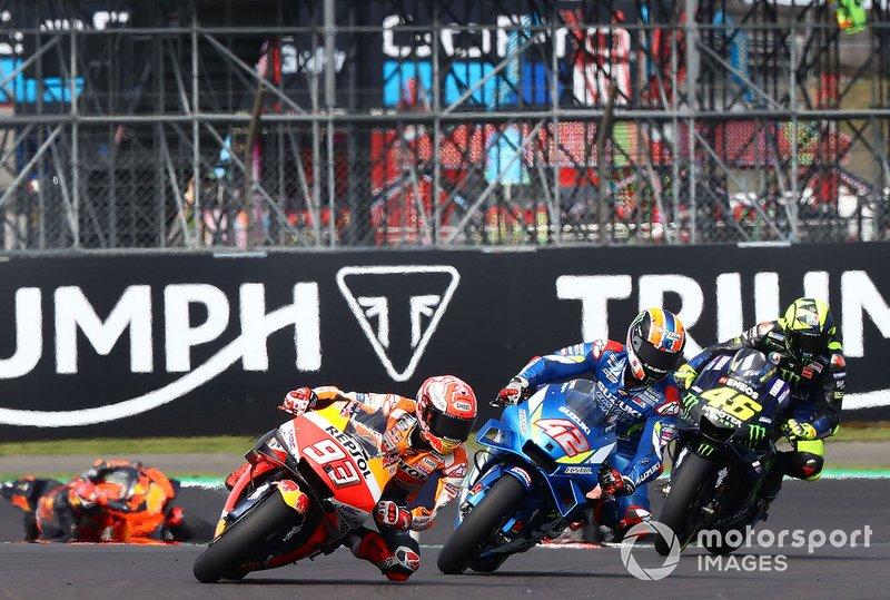 Marc Marquez, équipe Repsol Honda, Alex Rins, équipe Suzuki MotoGP