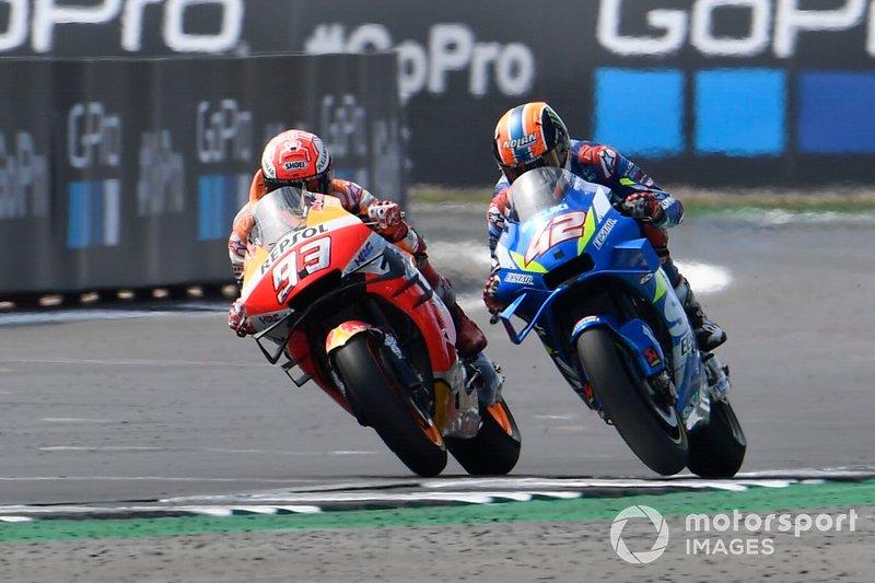 Alex Rins, équipe Suzuki MotoGP, Marc Marquez, équipe Repsol Honda