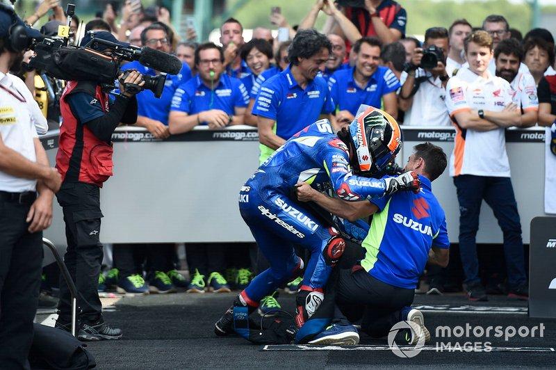 Alex Rins, vainqueur de la course, Team Suzuki MotoGP