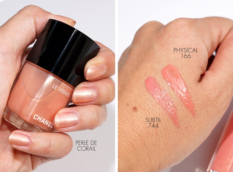 Chanel Le Vernis Perle de Corail + Rouge Gloss Coco Subtil et Physique