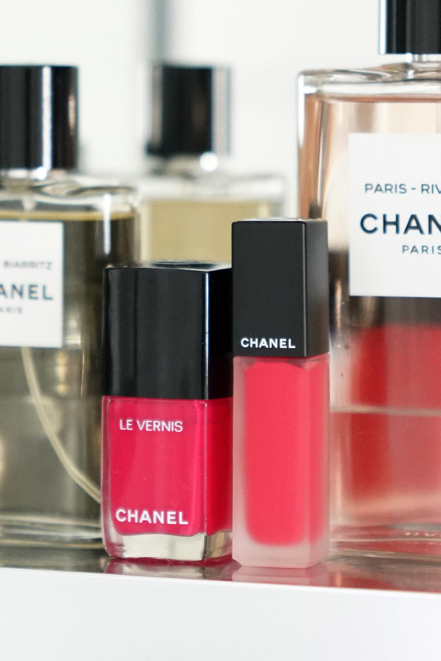Chanel Le Vernis Encre Allure Camelia Rouge Allure Euphorie