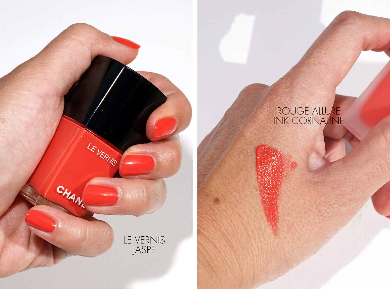 Chanel Le Vernis Jaspe et Rouge Allure Ink Cornaline