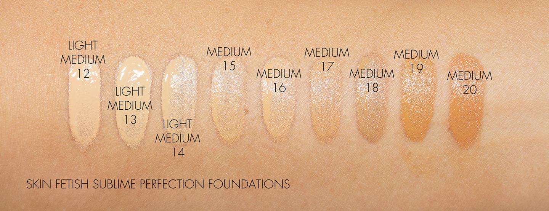 Pat McGrath Skin Fetish Foundation, échantillons 12 à 20