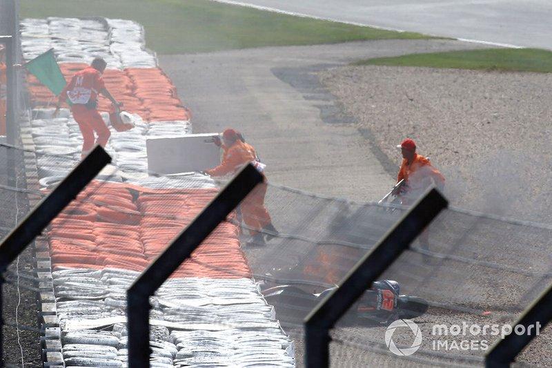 Andrea Dovizioso, Ducati Team et Fabio Quartararo, les motos Petronas Yamaha SRT en feu