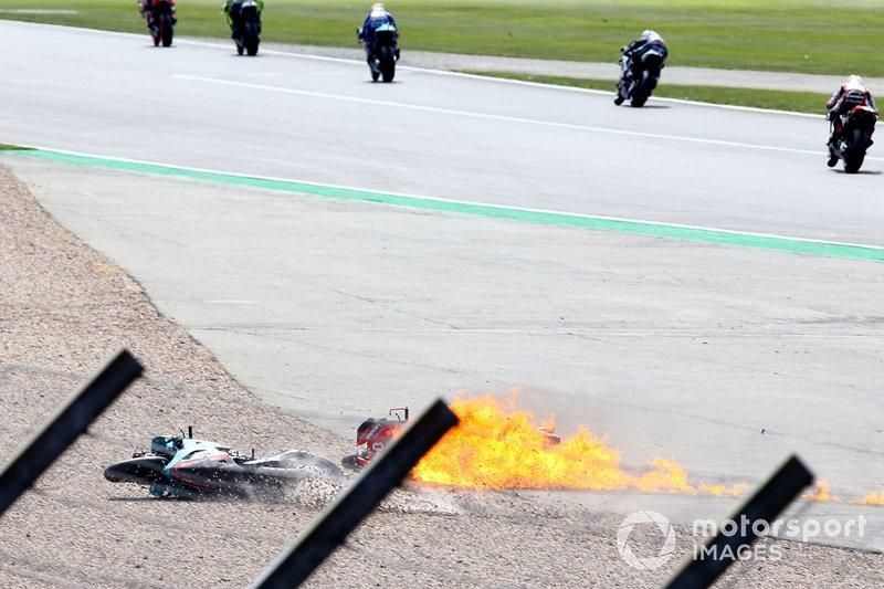 Andrea Dovizioso, moto Ducati Team en feu