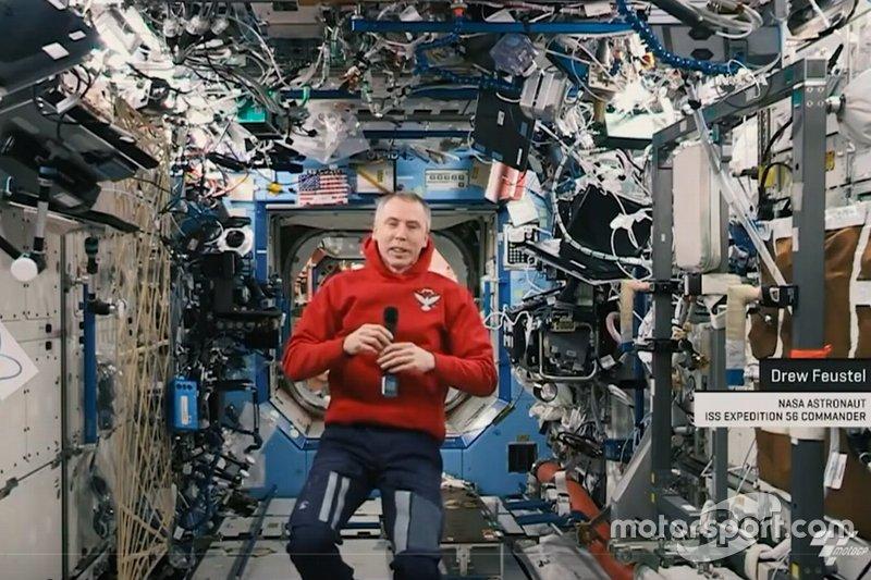 Drew Feustel, astronaute de la NASA dans la Station spatiale internationale