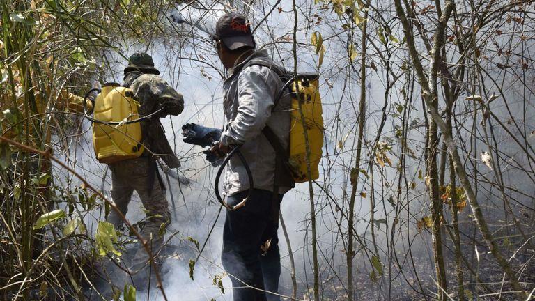 Pompiers en Bolivie