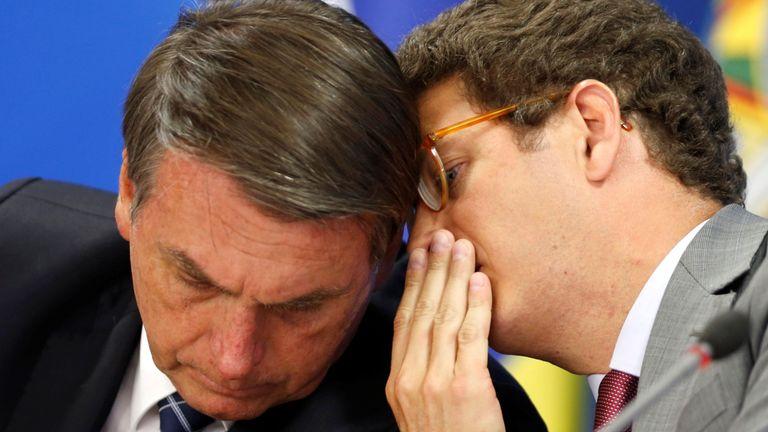 Bolsonaro et Salles ont appelé à davantage de développement en Amazonie