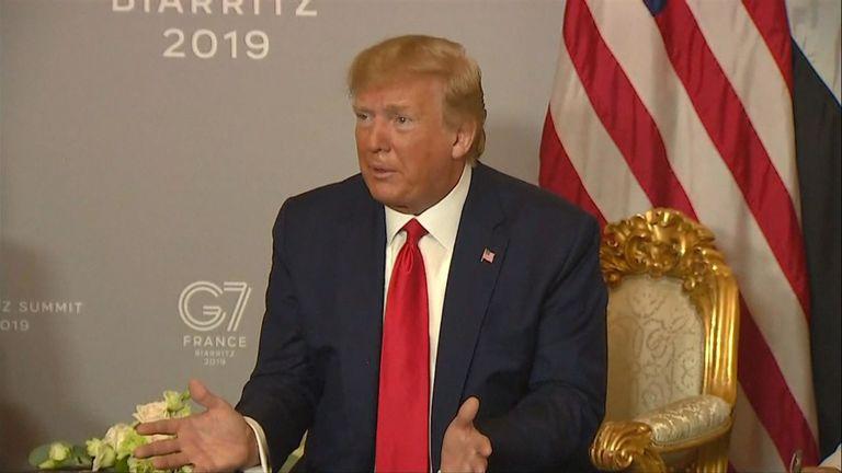 Le président américain a déclaré qu'il ne souhaitait pas un changement de régime en Iran.