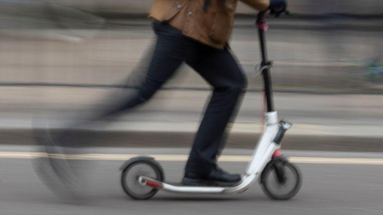 Scooter électrique à Londres