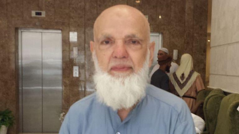 Mohammed Asim, 75 ans, de Tooting en est à son cinquième pèlerinage